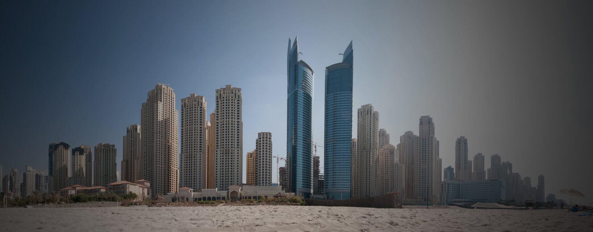 JA Oasis Beach Tower From Beach