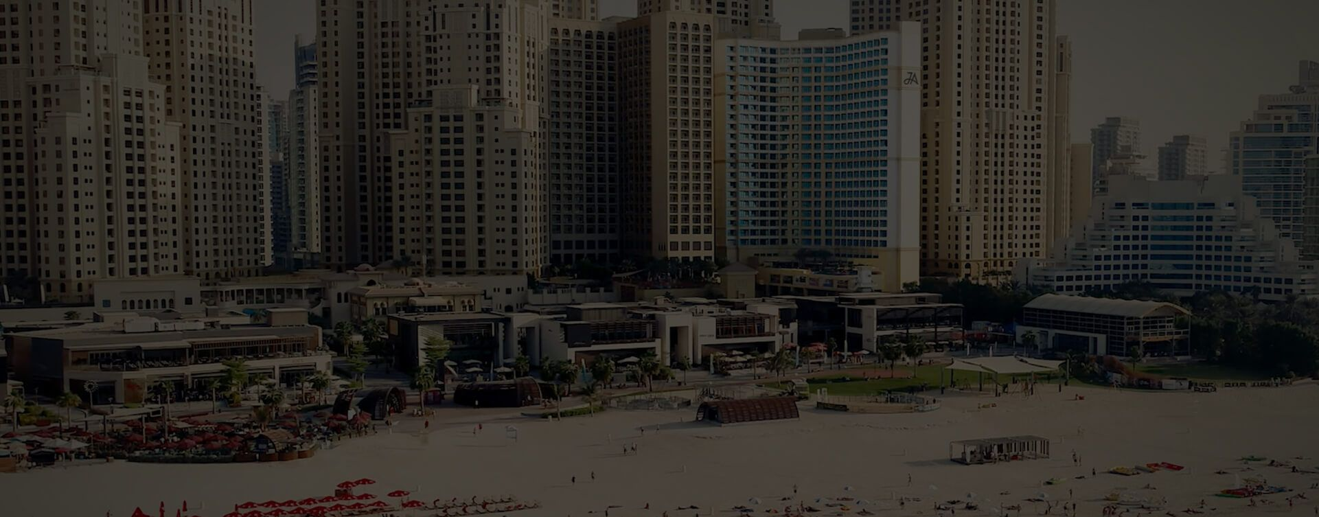 JA Ocean View Hotel From Beach