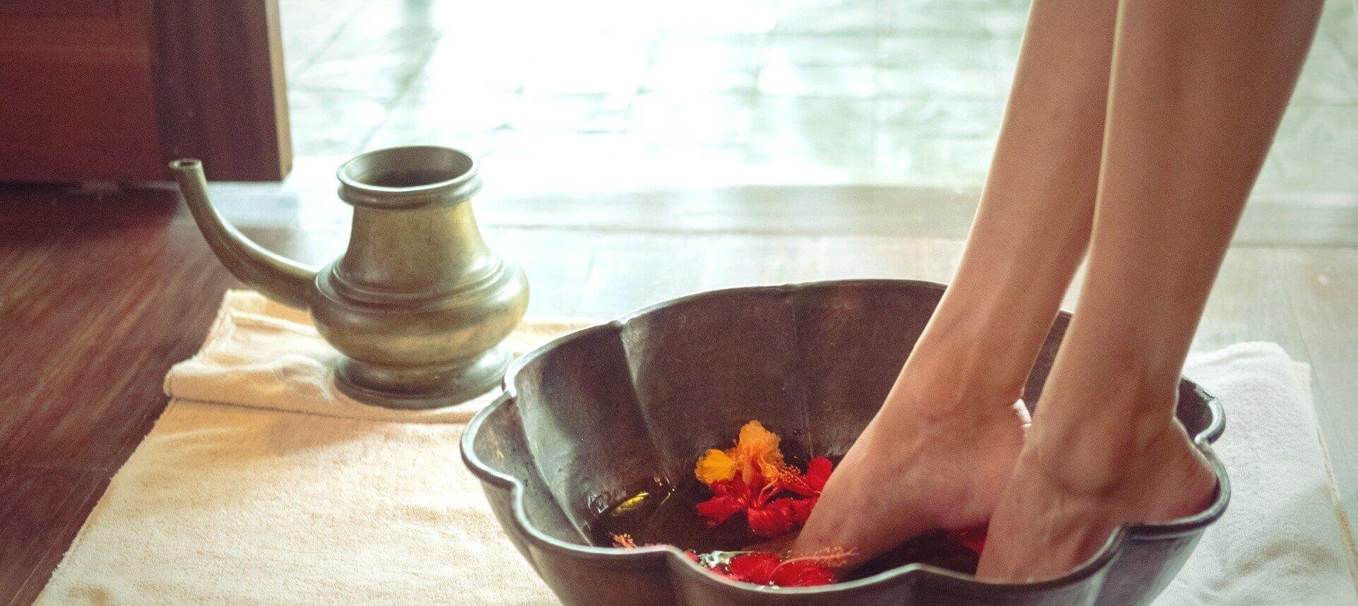 Woman Soaking Feet