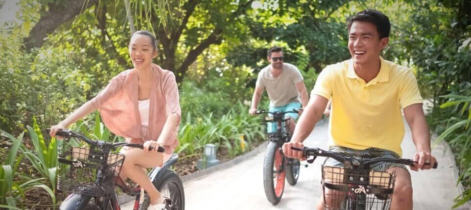 Men Riding on Bicycles