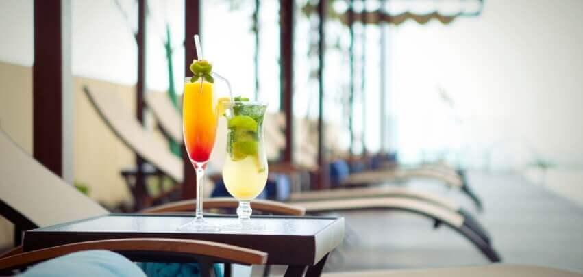 Cocktails At Deck Lounge
