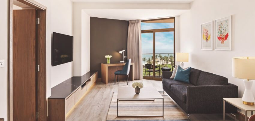 Family Suite Living Room with Balcony