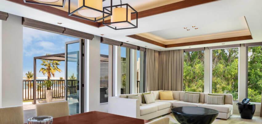 Beachfront Suite Living Room with Balcony