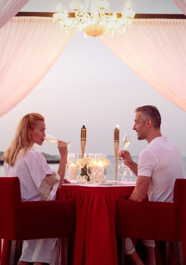 Couple At Romantic Dinner