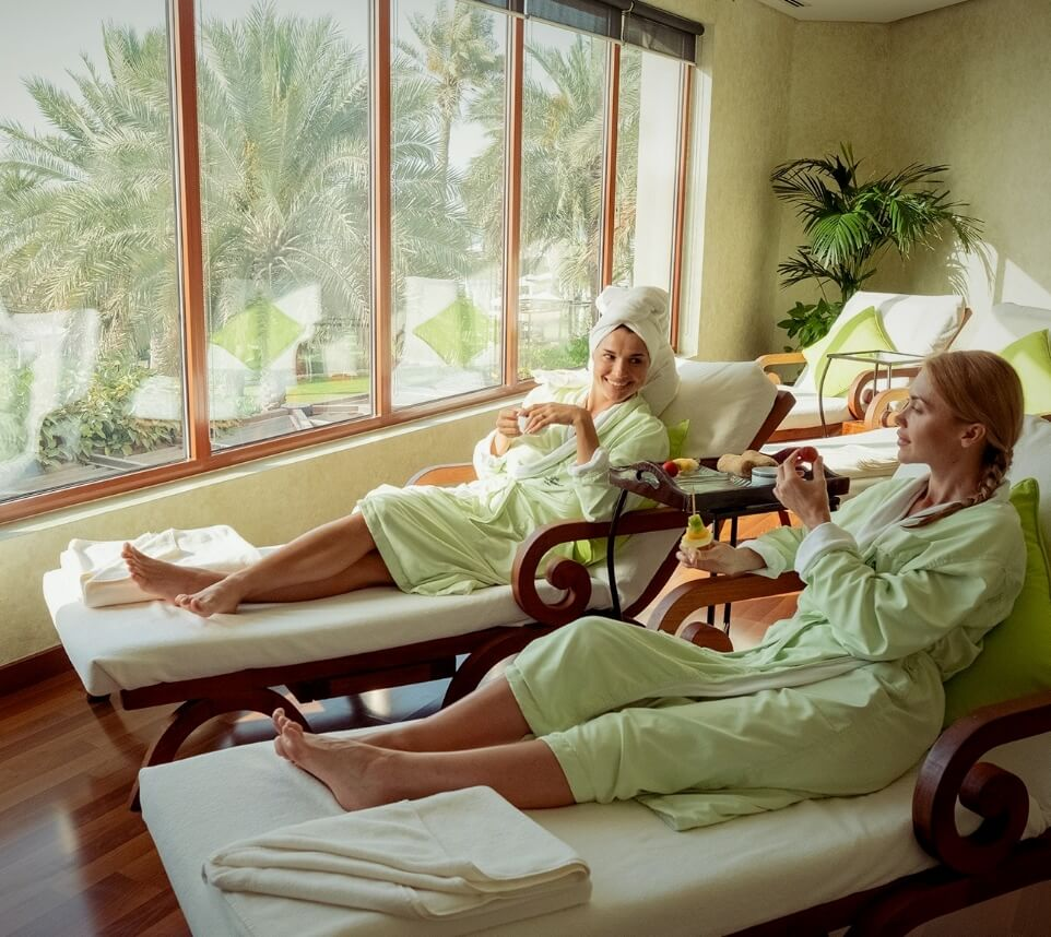 Women Relaxing at Spa