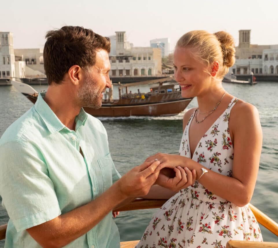 Proposal on Boat in Dubai