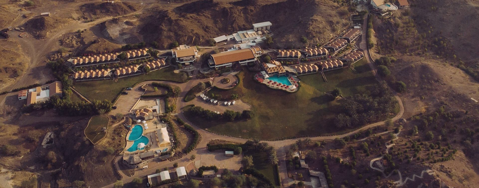 Aerial View Of JA Hatta Fort Hotel