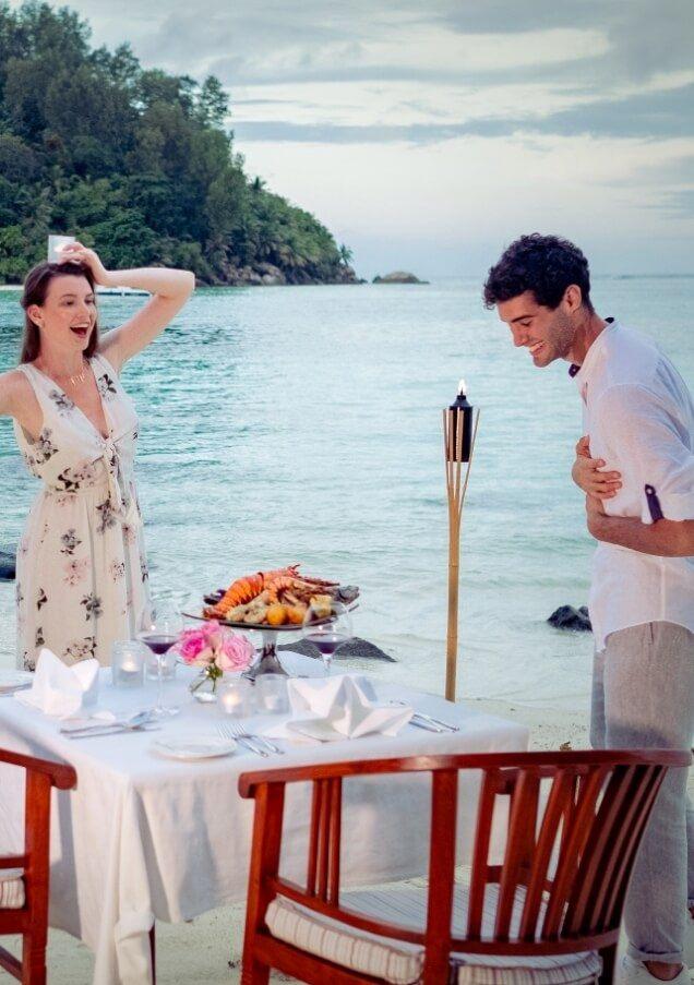 Couple Enjoying Seafood Platter