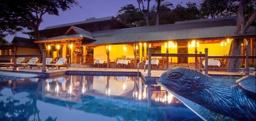 Seychelles Outdoor Restaurant with Pool