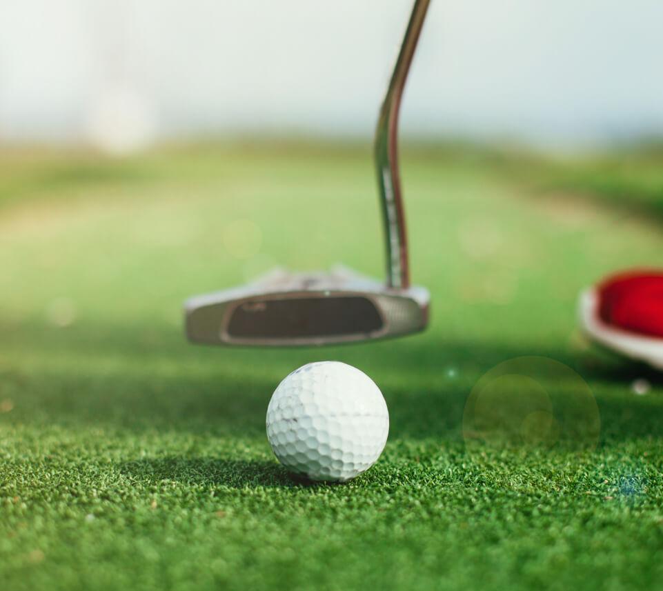Golf Ball with Putter