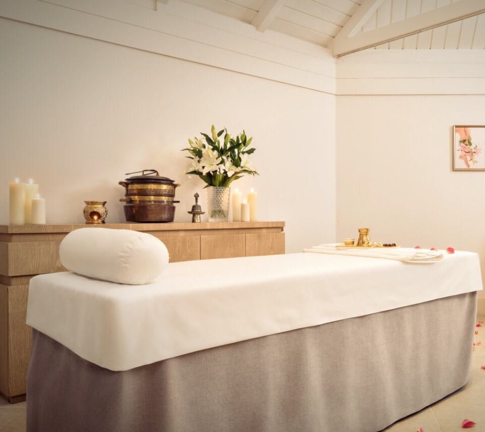Massage Room with Rose Petals