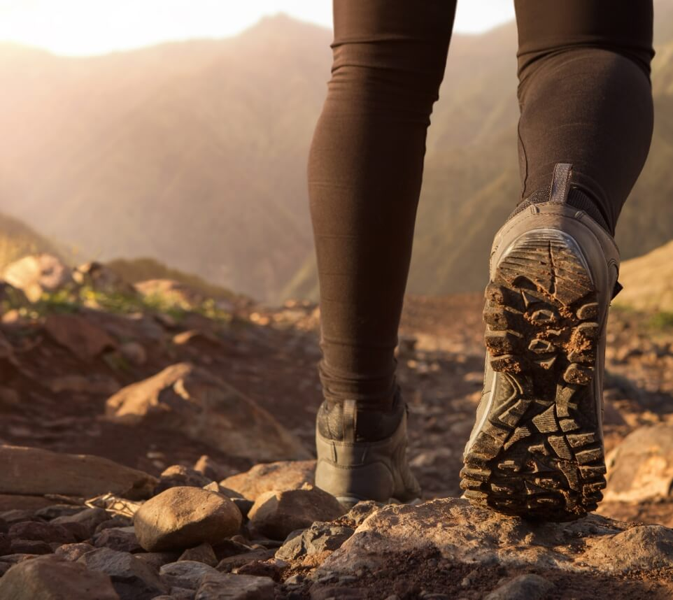 Hiking Shoes on Trail