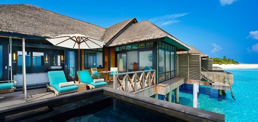 Water Villa Deck With Infinity Pool