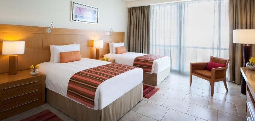 Hotel Apartment Bedroom with Double Beds