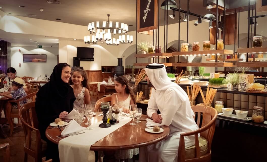 Family at Thyme Restaurant