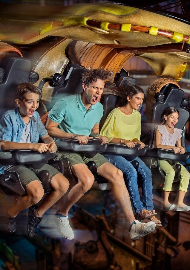 Family On Theme Park Ride
