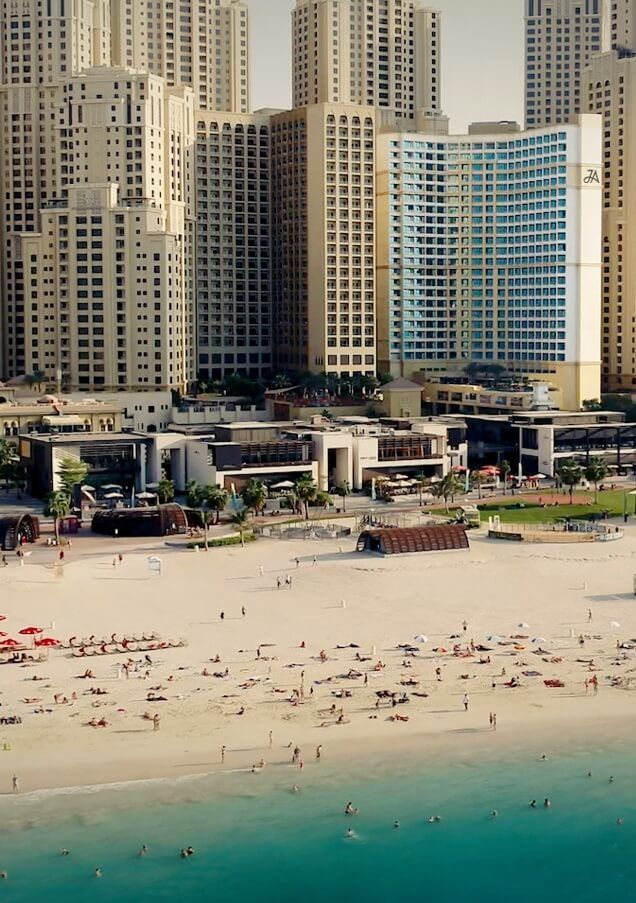 Dubai Skyline and Beach View