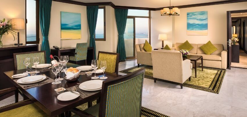 Hotel Suite Dining Table And Sitting Area