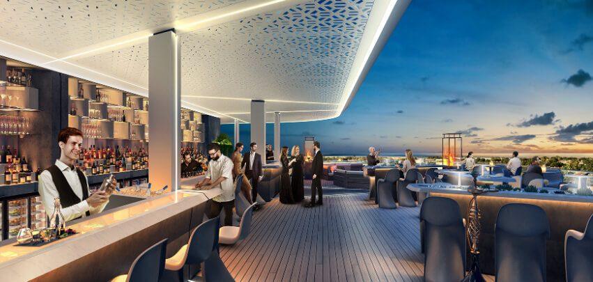 Dubai Rooftop at Night