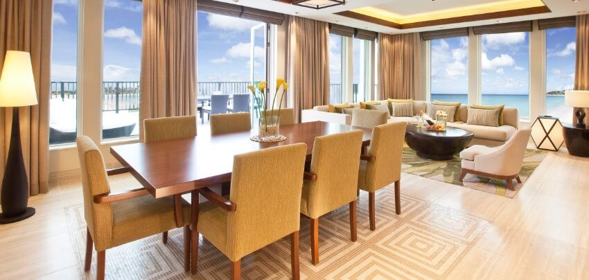 Luxury Sea View Suite Living And Dining Area