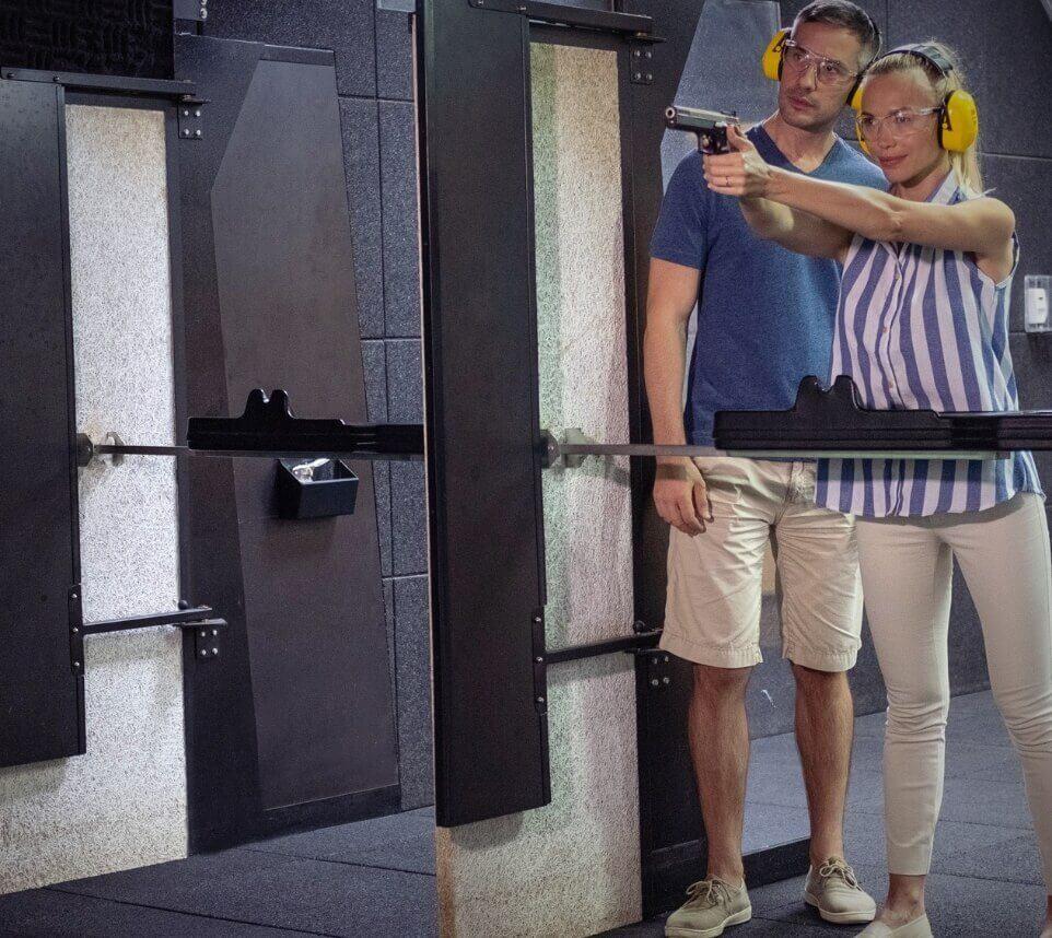 Couple at Shooting Range