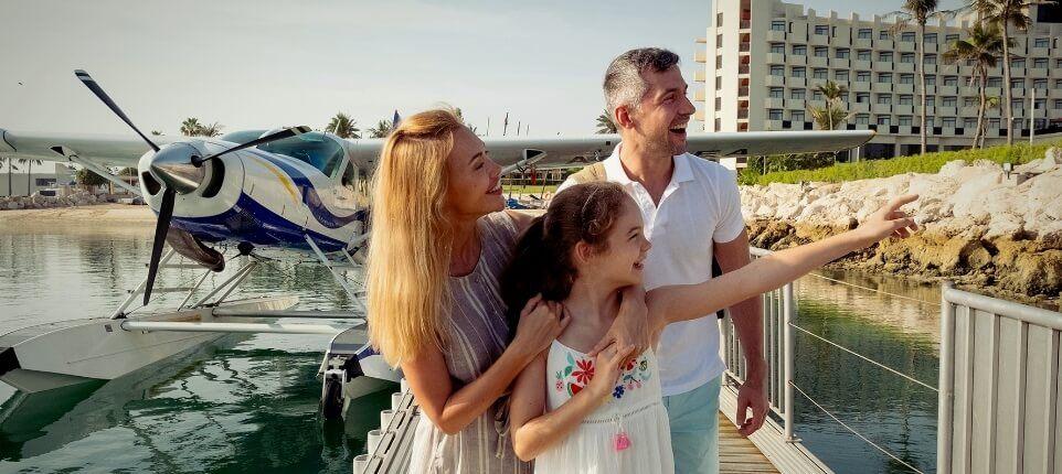 Family At Seaplane