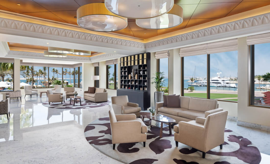 Lobby Seating Overlooking Ocean