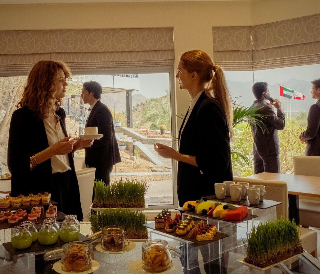 Women Meeting at Buffet